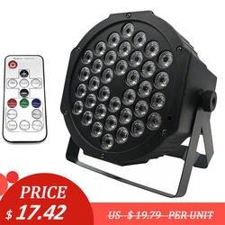Светодиодный Par огни 36 х 3 W DJ светодиодный RGBW Par огни RGB стирка светомузыка, DMX контроллер эффект для малых пати этап КТВ Освещение