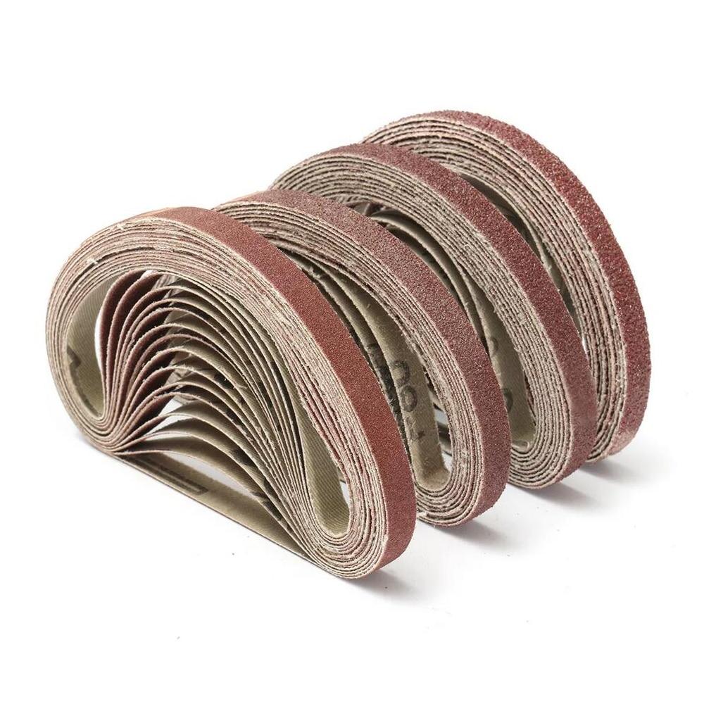 50PCS 330*10mm 40/60/80/100/120 Grit Abrasive Sanding Belts Sander Grinding Polishing Tools