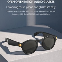 High End Smart Glasses Wireless Bluetooth 5.0 Headset Anti-blue Light/UV Lenses Hand-free Calling Music Outdoor Sport Sunglasses