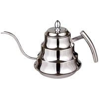 Küche Kaffee Topf Edelstahl Kaffee Tropf Wasserkocher Tee Topf  1.2L Feinen Mund Kaffee Topf-in Kaffeepott aus Heim und Garten bei