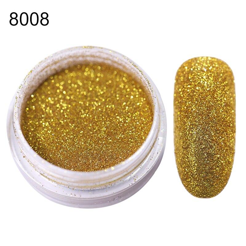 20 г голографический Блестящий Порошок для нейл-арта, красочный Золотой Красный Серебряный лак для ногтей, хромированная пыль, сделай сам, декоративный маникюр - Цвет: 2g per box