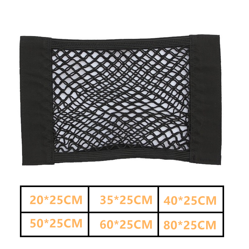 Auto Organizer Storage Mesh Holder Auto Back Seat Trunk Elastic String Net Universal For Cars Luggage Nets Travel Pocket image