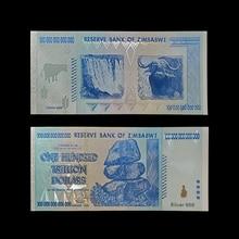 RH zimbabia Купюры в виде синей банкноты, 100 трлн долларов, с сертификатами 24k и золотым покрытием для коллекции