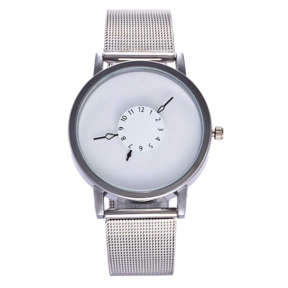 Mode Creatieve Horloges Casual Mannen Horloges Rvs Mesh Horloge Quartz Horloges Womage relogio masculino erkek kol saati