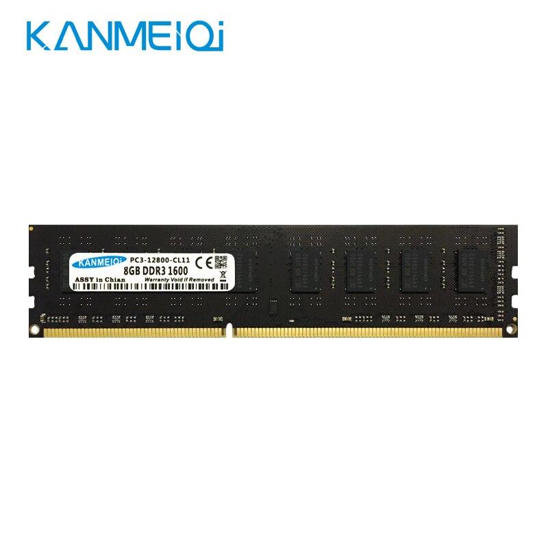 Kanmeiqi ddr3 2g 4g 8g 1333 mhz 1600/1866mhz desktop memória ram com dissipador de calor 240pin 1.5v dimm novo