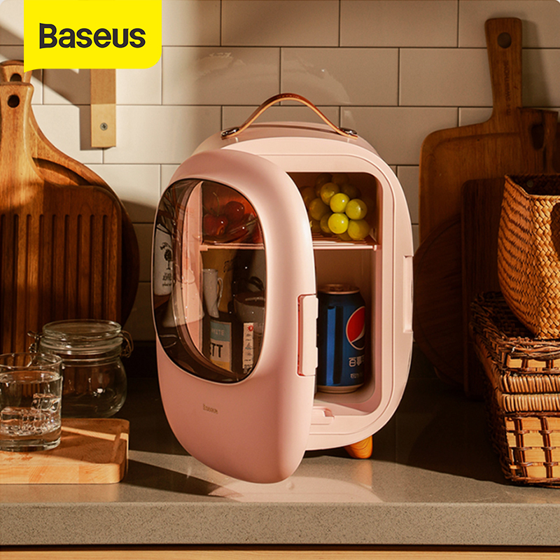 Baseus Mini Fridge Freezer 8L Car Refrigerator 12V/220V For Car Home Travel Cooling and Heating Auto Cooler Box Freezer