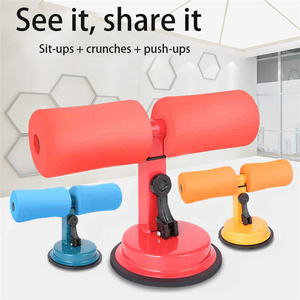 Sit Up Bar Floor Assistant Exercise Stand Padded Ankle Support Sit-up Trainer Workout Equipment for Home Gym Fitness Travel Gear(China)