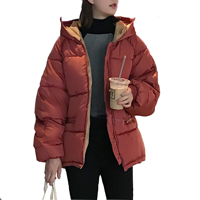 Winter Thick Women Jacket Mid-long Ladies Hooded Oversize Parka Down Cotton Solid Chaqueta Mujer