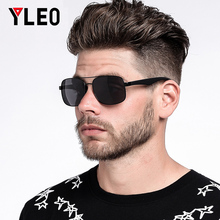 YLEO Sunglasses Men Polarized Oversized Mirror Driving Sun Glasses Man  Retro DriverGoggles Fishing Cycling Eyewear