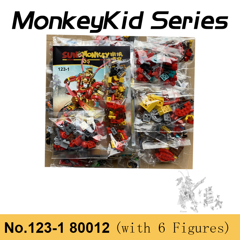 1622 шт. MonkeyKid серии вуконг» King совместим с 80012 Король обезьян воин мех, строительные блоки, игрушки для мальчиков и девочек, рождественские под...