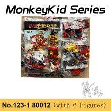 1622 pces monkeykid série wukong rei compatível com 80012 macaco rei guerreiro mech blocos de construção brinquedos para presentes natal do menino