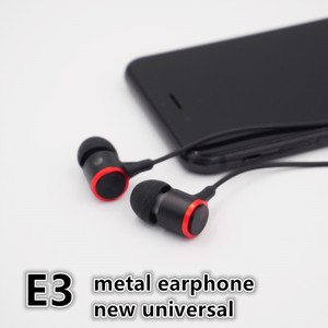 Image 2 - E3 wired earphone For Stereo Earphone Phone Earphones Bass mm 3.5 in ear Computer Wired Headphones With Phone Metal Microphone
