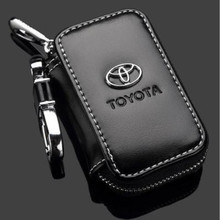Business Car Key Bag Leather Black Brown Key Organizer Hanging Keychain Toyota Car Key Cover