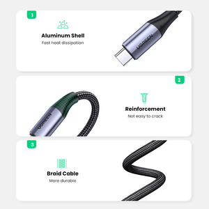 Image 5 - Ugreen 5A USB C to Type C Cable for Macbook Pro PD100W USB 3.1 Gen 2 Fast USB C Cable for Samsung S9 Note 9 Quick Charge4.0 Cord