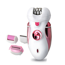 4 in 1 Rechargeable Hair Epilator Women Shaver Female Electric Hair Shaving Machine Body Depilador Lady Trimmer Removal kemei 4 in 1 women epilator electric female depilador lady shaver razor rechargeable bikini trimmer body facial hair removal