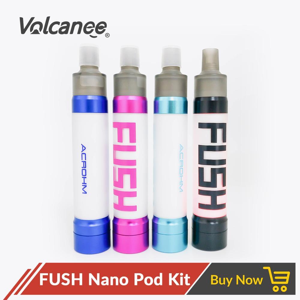 Volcanee Fush Nano Pod Vape Kit  550mAh Battery 1.5ml Cartridge Pod Top Filling MTL And DTL Electronic Cigarette Vaporizer