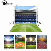 Allenjoy Real Madrid photocall background football field Soccer birthday sport communion party photocall photophone backdrop
