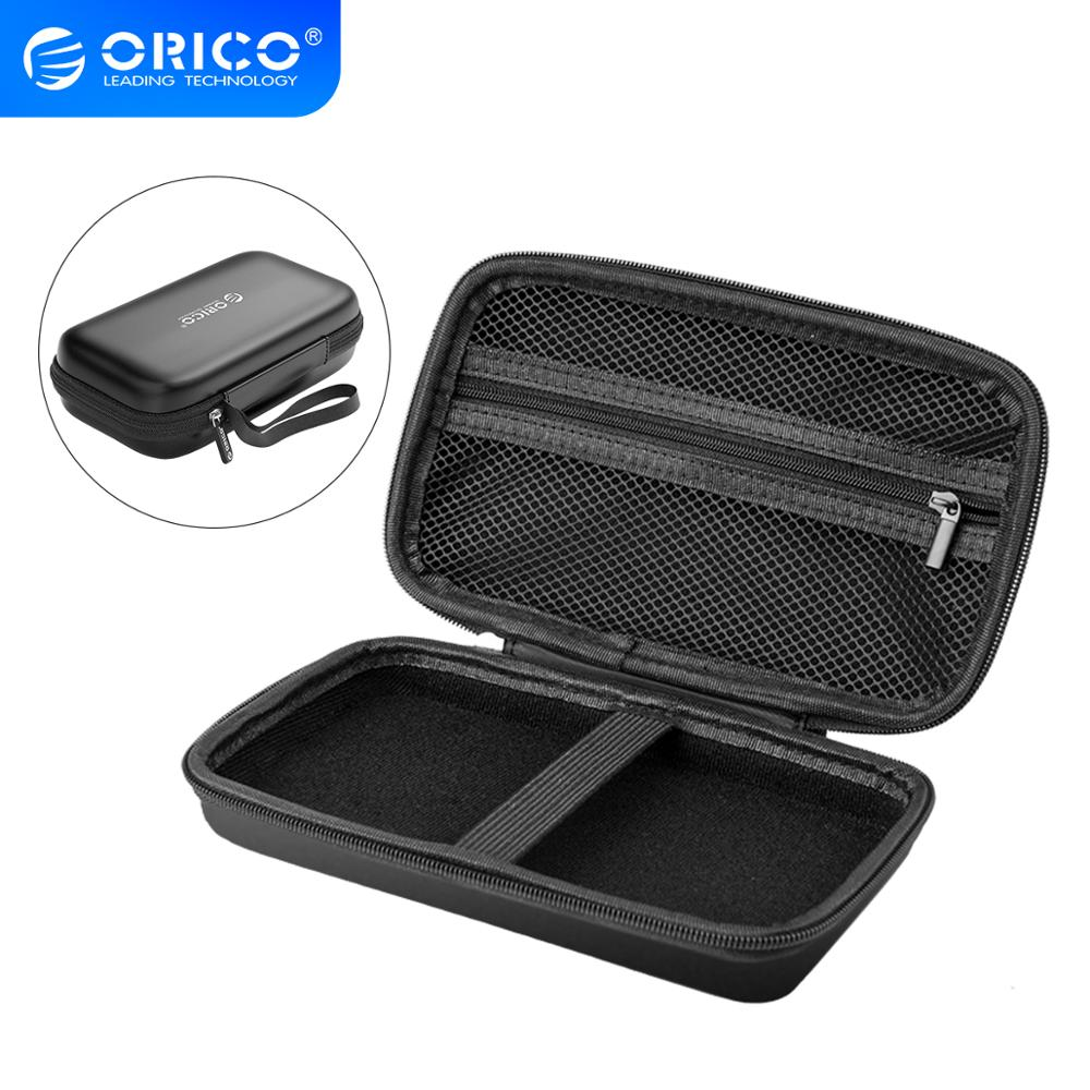 ORICO Hard Case Box Power Bank Case for 2 5 Hard Drive Disk USB Cable External Storage Carrying SSD HDD Case Storage box