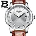 MIYOTA автоматические часы Бингер мужские деловые механические часы кожаный ремешок relogio masculino сапфир Relojes Hombre 2019