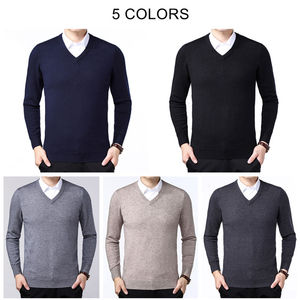 Image 4 - COODRONY Brand Sweater Men Autumn Winter Thick Warm Pull Homme Classic Casual V Neck Pullover Men Cashmere Woolen Knitwear 91110