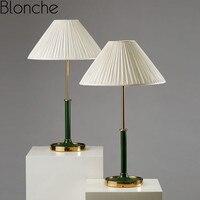 Post Modern Led Table Lamps Green Desk Lamps for Living Room Bedroom Study Art Decor Lighting Fixtures Creative Iron Luminarias