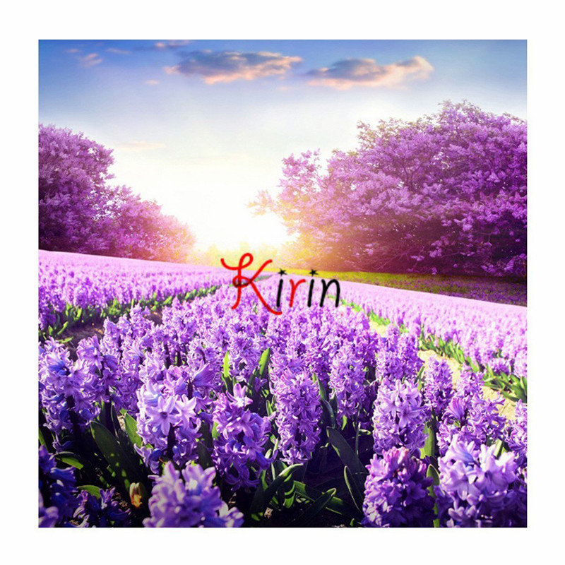Kirin Show Diamond Embroidery Flower Diamond Painting Lavender Mosaic Sale Needlework Rhinestones Needle Arts & Craft