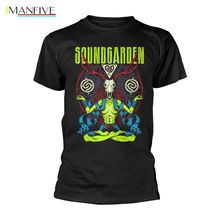 Soundgarden Neon Badmotorfinger Chris Cornell offiziell  T-Shirt Herren 100% Cotton Letter Printed T-Shirts top tee soundgarden soundgarden badmotorfinger 2 lp