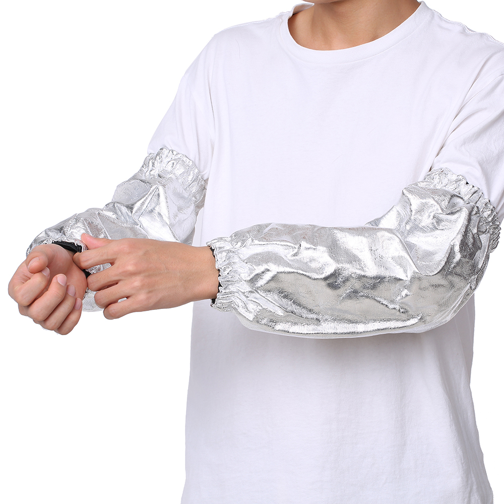 DA-103 Heat Resistant Sleeve 1000 Degrees Celsius Aluminum Foil Smelting Boiler Fire Welding Work High Temperature Sleeves