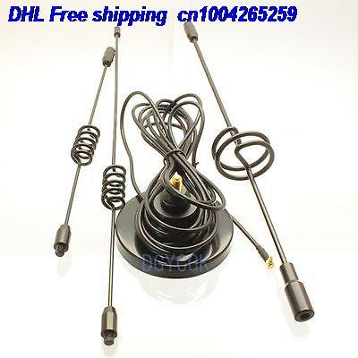DHL 10pcs Antenna GSM 3G 9dBi MMCX Male RA 90 Degree Magnetic Base For Aigo Aircard Antenna 22-a