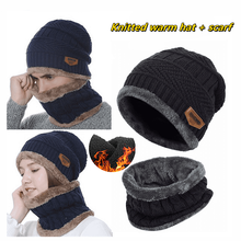 Outdoor Coral Fleece Scarf Caps Winter Soft For Mens Black Warm Breathable Wool Knitted Winter Caps Letter Double Layers Caps