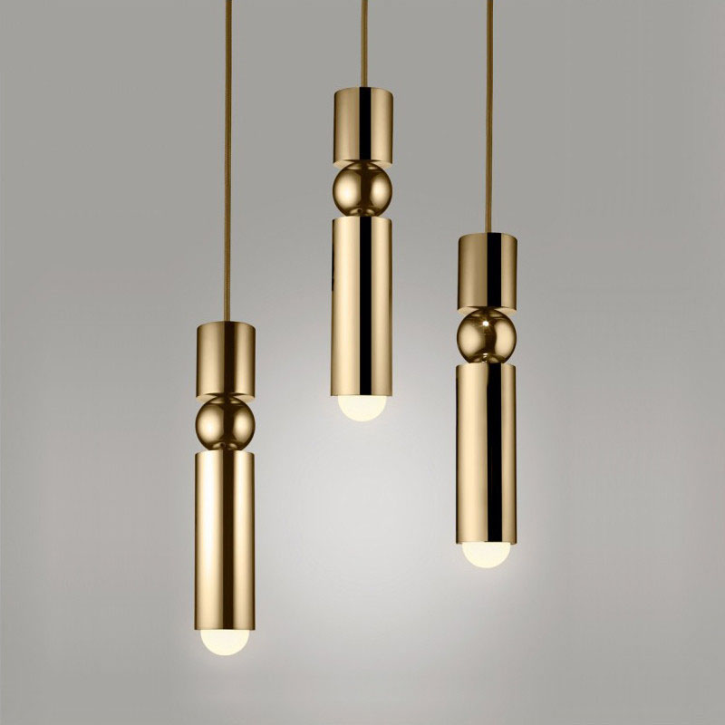 Pendant lights Long Tube light Kitchen Island Dining Room Shop Bar Counter Decoration Cylinder Pipe Hanging Light Kitchen Lamp