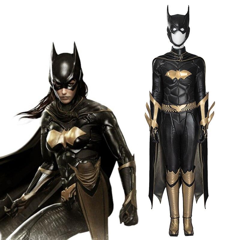 Jeu Batman Arkham ville Cosplay Costume Batgirl Cosplay Costume Halloween carnaval fête ensemble complet sur mesure