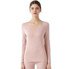 Pajamas-Set Thermal-Underwear Long-Johns Velvet Plus Seamless Clothing Antibacterial