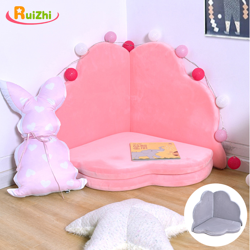 Ruizhi Baby Petal Thickened Crawling Play Sponge Mat Children Folding Removable Washable Non-Slip Mat Bed Fence Game Mat RZ1211