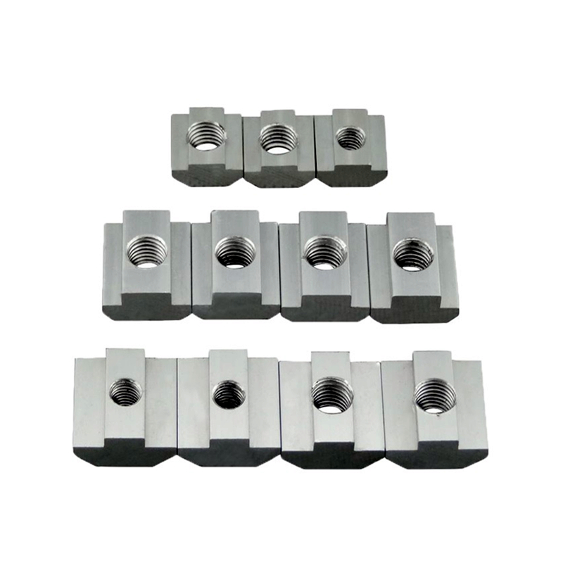 M3 M4 M5 M6 T Block Square Nuts T-Track Sliding Hammer Nut For Fastener Aluminum Profile 2020 3030 4040