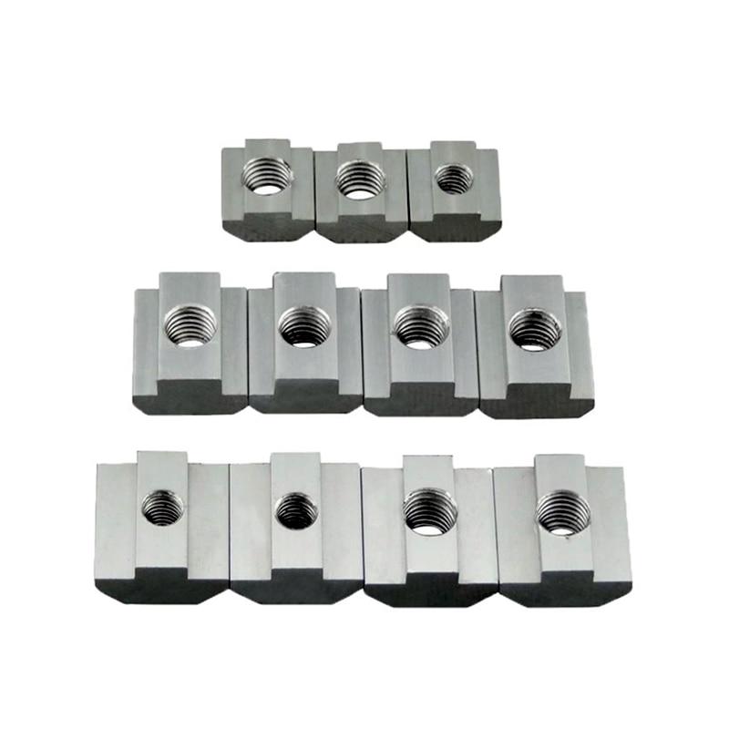 M3 M4 M5 M6 T Block Square Nuts T-Track Sliding Hammer Nut For Fastener Aluminum Profile 2020 3030 4040