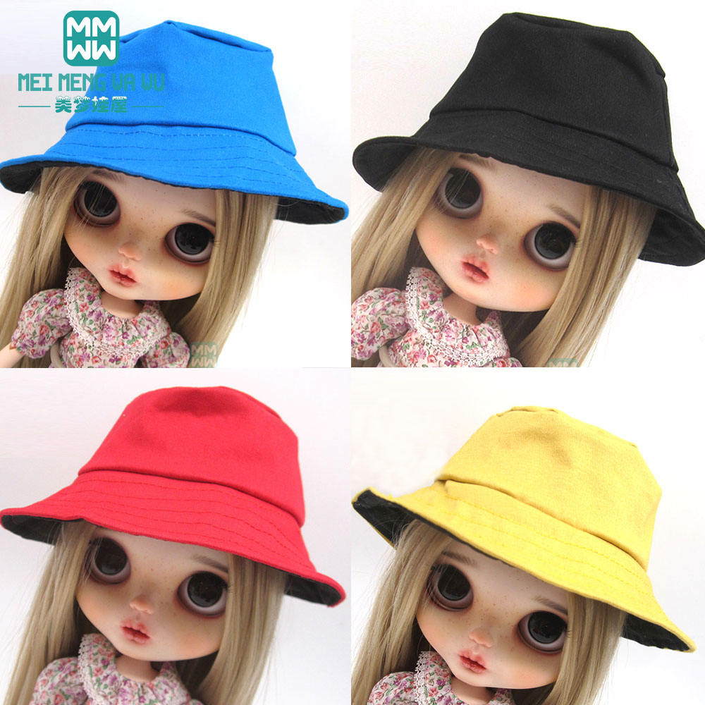 Blyth Doll Accessories Fashion Hats Blue, Red, Yellow, Black Transparent Mask For Blyth Azone1/6 Doll