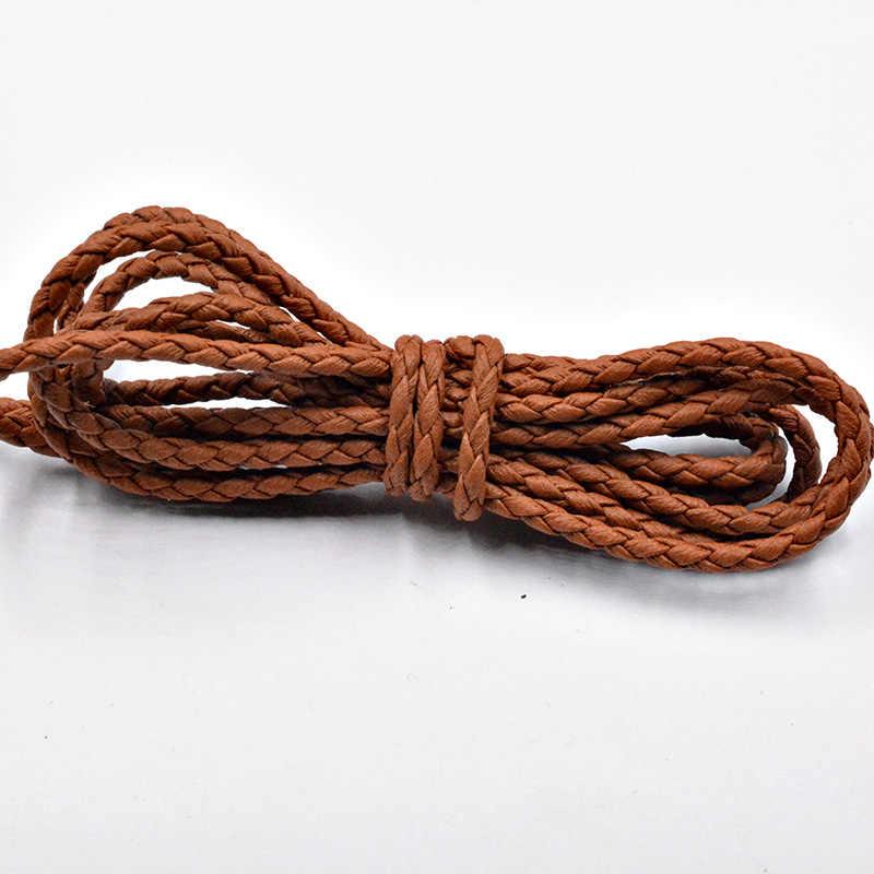 Fltmrh 3mm plana tecido trançado falso camurça veludo cabo de couro renda-cada picee
