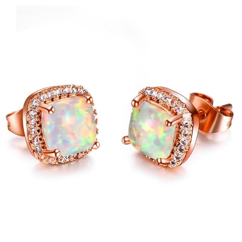 Rose White Opal