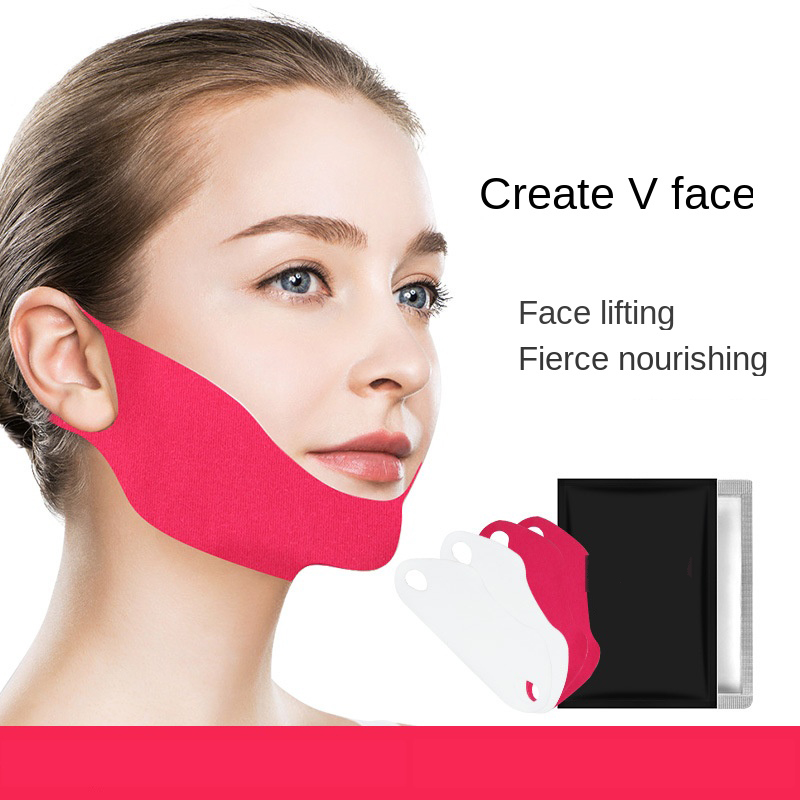 1pcs Hydration Mask V Face Shape Tension Firming Mask Paper Slimming Eliminate Edema Lifting Firming Thin Masseter Face Care