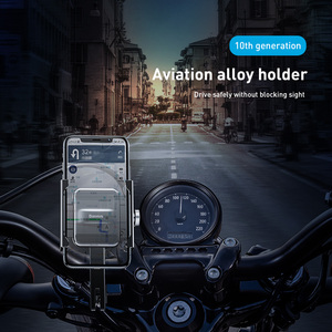 Image 5 - Baseus Bicycle Phone Holder For iPhone 11 X XS Samsung S9 S10 360 degree rotation Mount Bracket Aerial Motorcycle Phone Holder