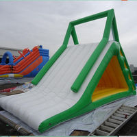 Custom made outdoor kids N adults inflatable water slope slide for fun sports