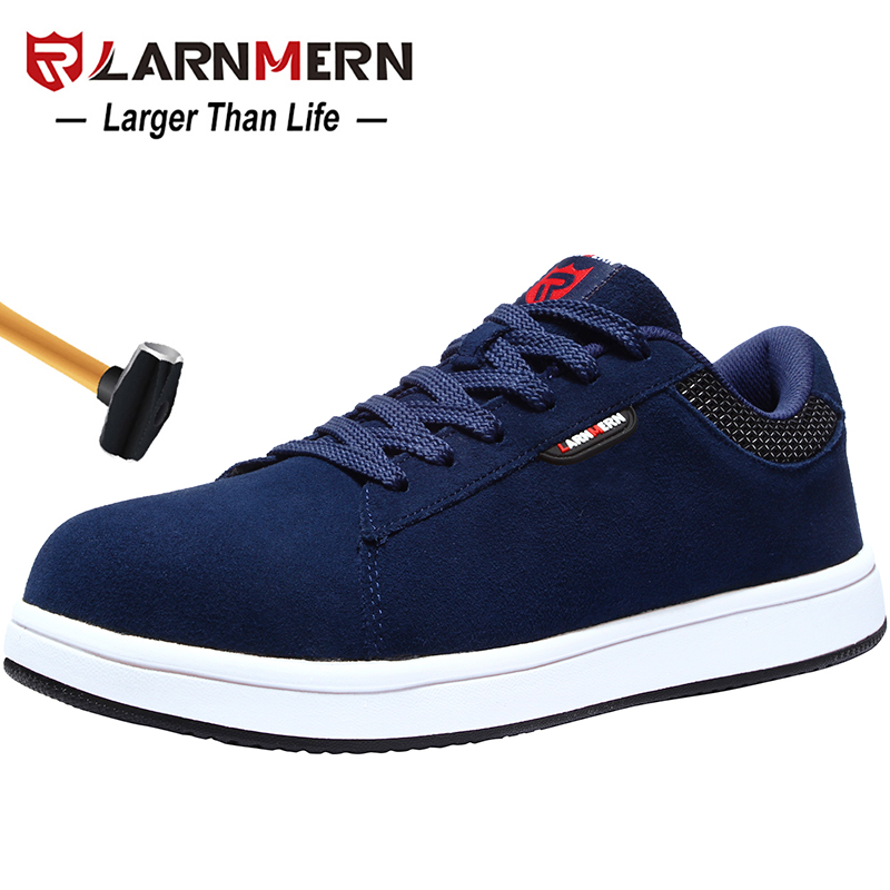 LARNMERN Men's Work Safety Shoes Steel Toe Construction Sneaker Lightweight Breathable Anti-smashing Safety Shoes