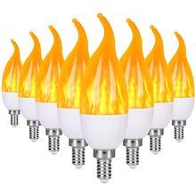 Flame Bulb LED Candelabra Light Bulbs E14 E27 Chandelier Bulbs Christmas Decorations Light Candle Bulbs Holiday party Decor cheap StillCool CN(Origin) 2700K S2066 2835 living room 85-265V 250 - 499 Lumens up to 30000 hours 129mm LED Bulbs Edison