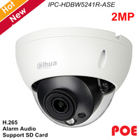 Dahua Pro AI Series 2MP IP Camera IPC HDBW5241R ASE H.265 H.264 Support Alarm Audio IR 50m Micro SD memory Waterproof IP67
