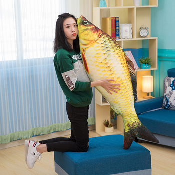 giant cute cat toy simulation animal carp pillow pet cat play toy gift sofa decoration 47inch 120cm DY50755