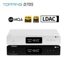 Décodeur TOPPING D70S MQA 2 * AK4497 Bluetooth 5.0 32Bit/768K DSD512 haute résolution DAC avec télécommande