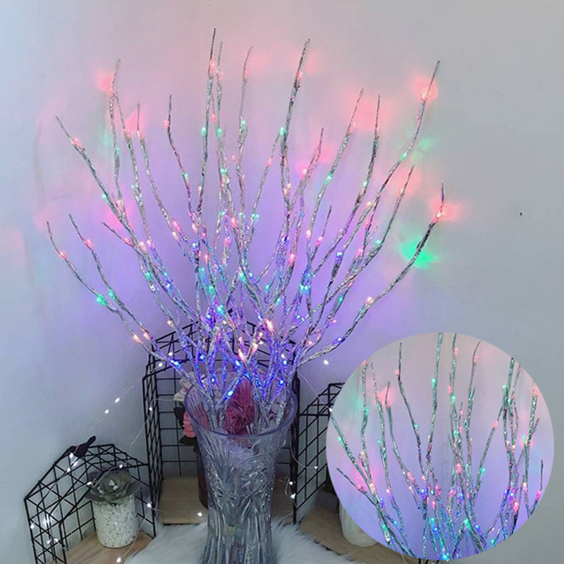 5pcs Simulation Tree Branch 20 LED Light String Christmas Decorations For Home Christmas Tree Decorations New Year's Decor