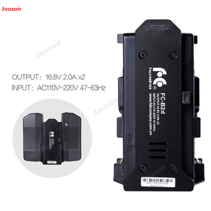 Falconeyes V port lithium battery charger two electric double charge V type lithium battery charger FC B2d CD50 T03