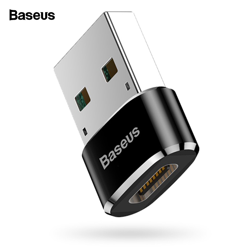 Baseus USB To USB Type C OTG Adapter USB-C Converter Type-c Adapter For Macbook For Samsung S10 Xiaomi Huawei USB OTG Connector
